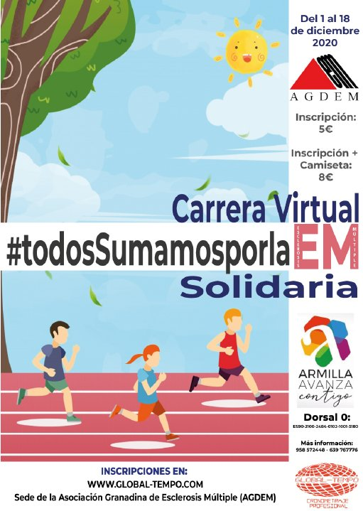 Carrera Virtual Solidaria #todosSumamosporlaEM - AGDEM