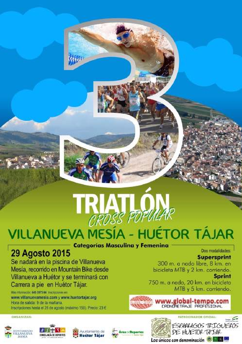 3 TRIATL�N CROSS POPULAR VILLANUEVA MES�A-HU�TOR T�JAR